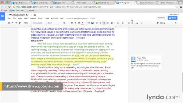 Using collaborative tools for content review: Foundations of Teaching with Technology