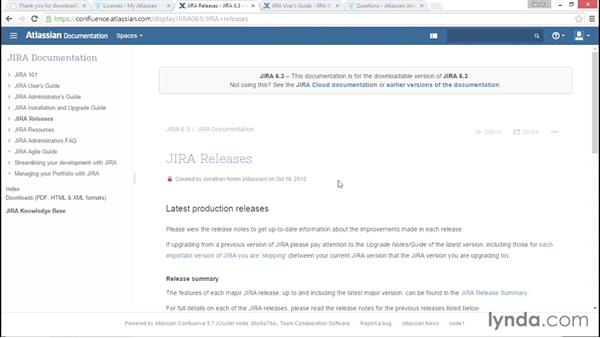 Exploring the Atlassian community and helpful resources: Installing and Administering Atlassian JIRA