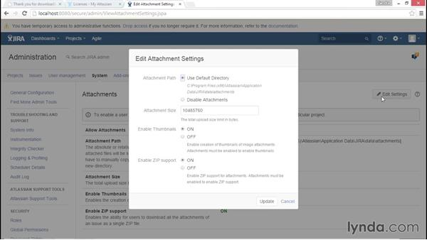 Delving into the administrative console: Installing and Administering Atlassian JIRA