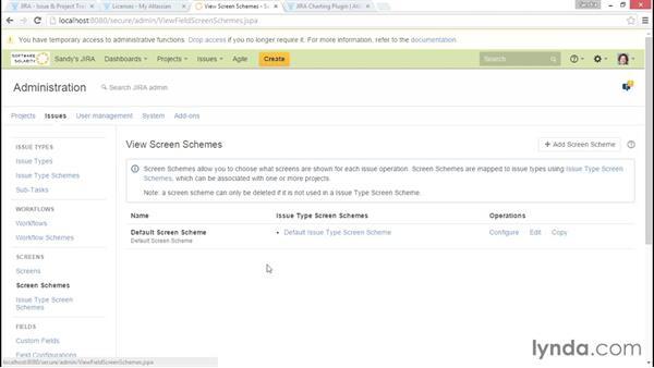 Creating custom screens: Installing and Administering Atlassian JIRA