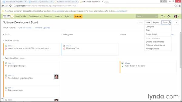 Using a kanban board: Installing and Administering Atlassian JIRA