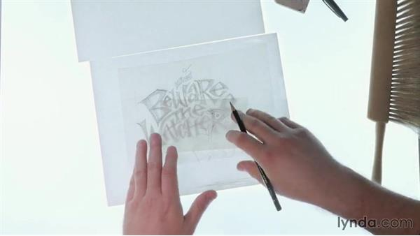 A drawn foundation: Drawing Vector Graphics: Hand Lettering