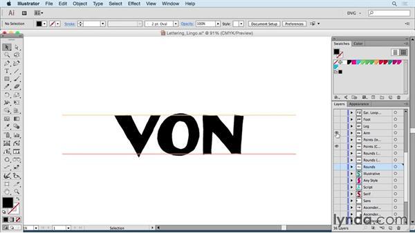 Understanding lettering lingo: Drawing Vector Graphics: Hand Lettering