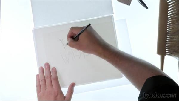 Making the initial rough drawing: Drawing Vector Graphics: Hand Lettering