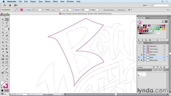 Easy vector build methods: Drawing Vector Graphics: Hand Lettering
