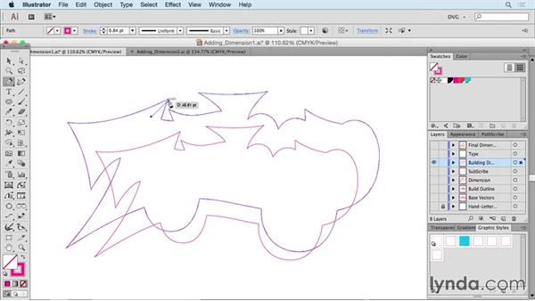 Adding dimension: Drawing Vector Graphics: Hand Lettering