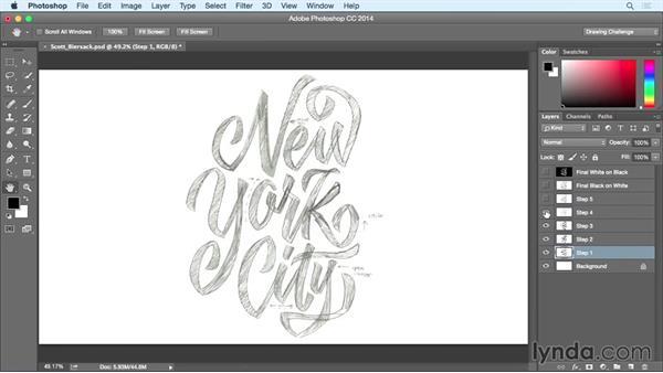 Inspiring designer: Scott Biersack: Drawing Vector Graphics: Hand Lettering