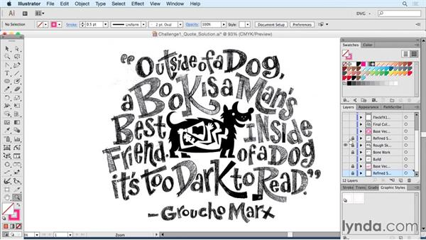 Solution one: Quote: Drawing Vector Graphics: Hand Lettering