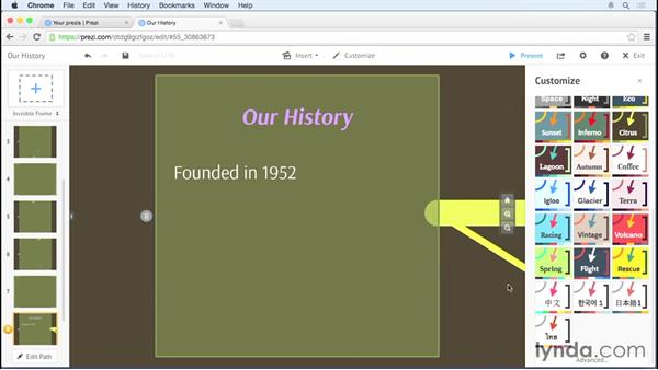 Using the Theme Wizard: Prezi Essential Training
