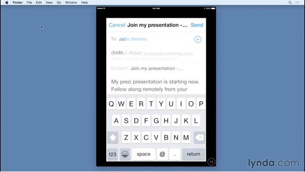 Presenting remotely from an iOS device: Prezi Essential Training
