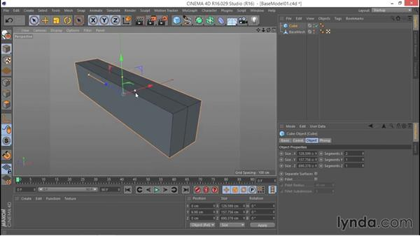 Sketching the rough form from a cube: Hard Surface Sculpting and Retopologizing in CINEMA 4D