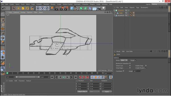 Employing knife cuts to shape the model: Hard Surface Sculpting and Retopologizing in CINEMA 4D