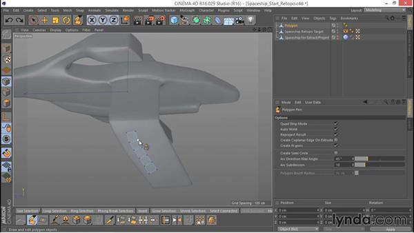 Introducing the Polygon Pen/Create tools: Hard Surface Sculpting and Retopologizing in CINEMA 4D