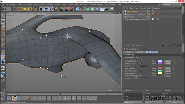 Checking the model's integrity: Hard Surface Sculpting and Retopologizing in CINEMA 4D