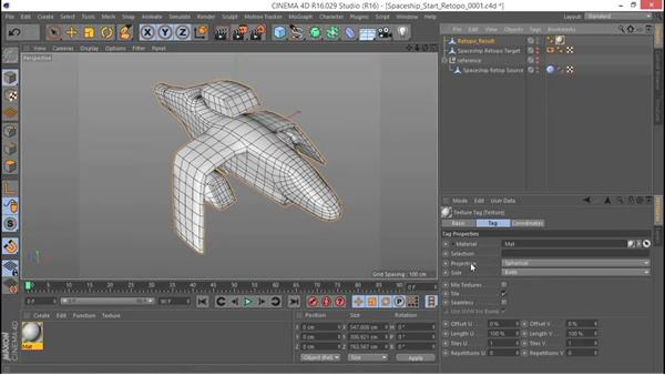 Setting up basic UV mapping: Hard Surface Sculpting and Retopologizing in CINEMA 4D