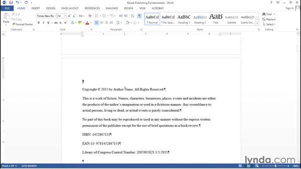 Front matter: Ebook Publishing Fundamentals