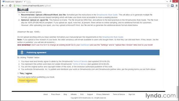 Uploading to Smashwords: Ebook Publishing Fundamentals