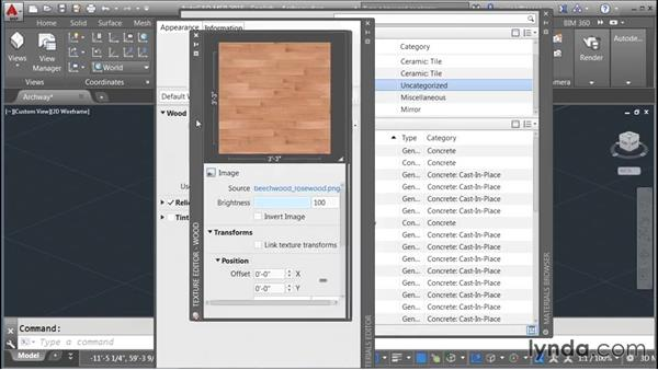 Adding materials to objects: Rendering with AutoCAD