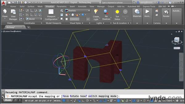 Mapping materials: Rendering with AutoCAD
