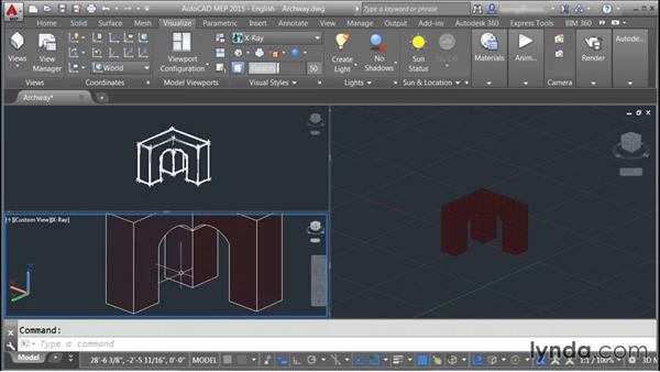 Switching visual styles: Rendering with AutoCAD