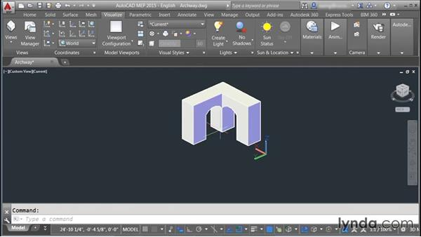 Showing materials and textures: Rendering with AutoCAD