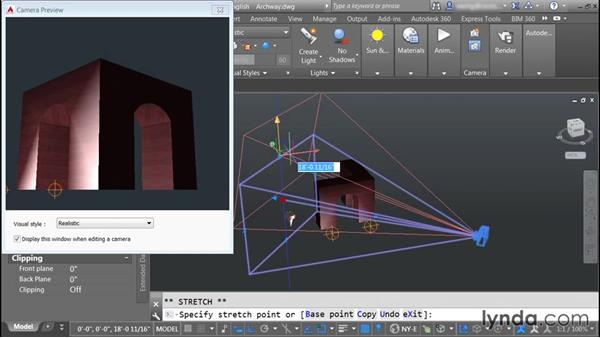 Creating cameras: Rendering with AutoCAD