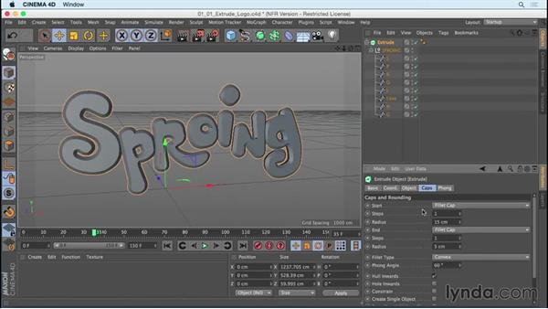 Creating 3D type from logo splines: Mograph Techniques: Creating a Bouncy Cartoon Logo in CINEMA 4D