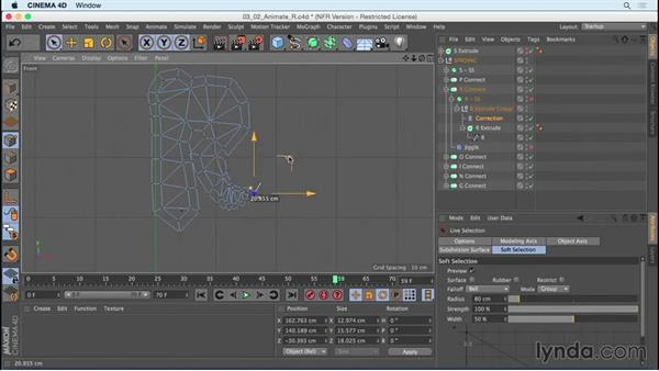 "Animating ""R"" using Correction deformer: Mograph Techniques: Creating a Bouncy Cartoon Logo in CINEMA 4D"