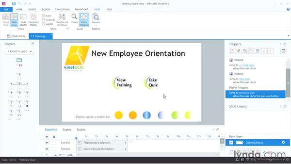 Touring the Articulate Storyline 2 interface: Up and Running with Articulate Storyline 2