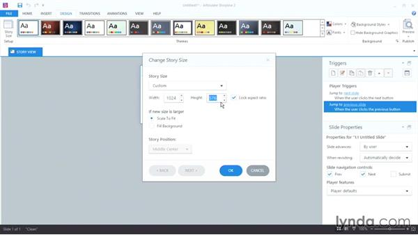 Starting a new project: Up and Running with Articulate Storyline 2