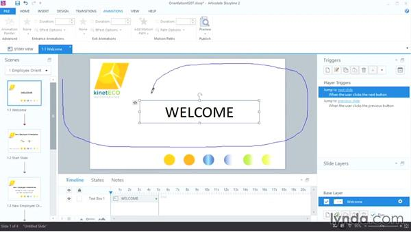 Animating objects on a path: Up and Running with Articulate Storyline 2