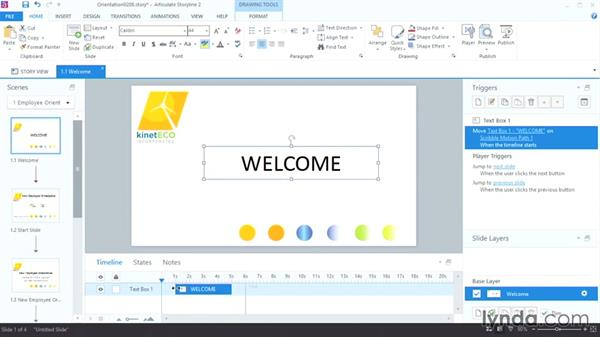 Using triggers and timings: Up and Running with Articulate Storyline 2