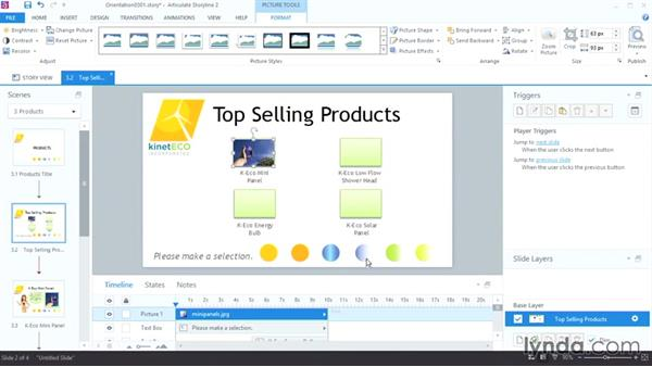 Adding images: Up and Running with Articulate Storyline 2