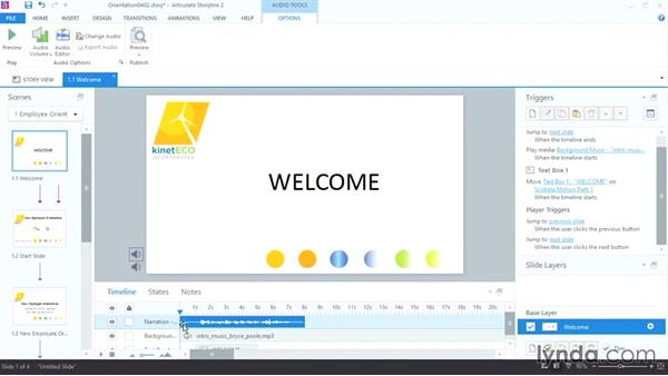 Recording narration: Up and Running with Articulate Storyline 2
