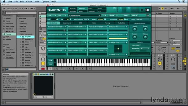 Automation and Performance window: Up and Running with ABSYNTH 5