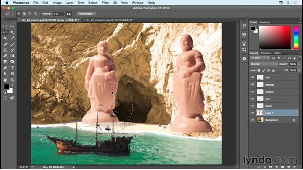 Adding in the statues: Bert Monroy: Dreamscapes - Sacred Cavern