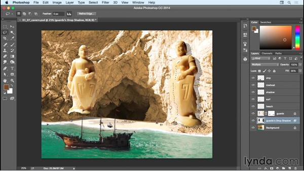 Adding textures to the statues: Bert Monroy: Dreamscapes - Sacred Cavern