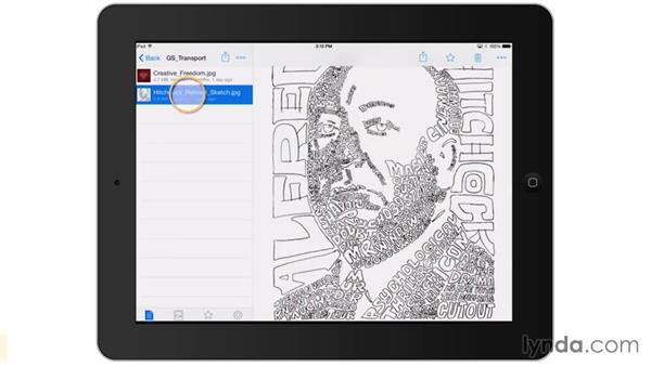 Moving the drawing to the iPad: Artist at Work: Hand-Drawn Type Portrait