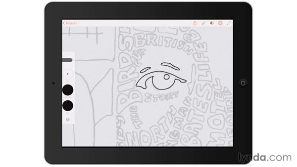 Digitally inking non-lettering areas: Artist at Work: Hand-Drawn Type Portrait