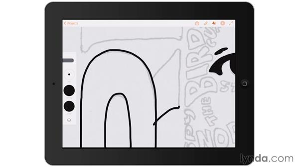 Digitally inking the initial lettering: Artist at Work: Hand-Drawn Type Portrait