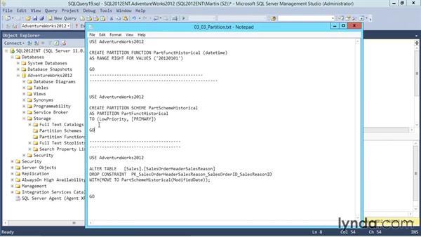 Planning for partitioning: Designing Database Solutions for SQL Server 2012