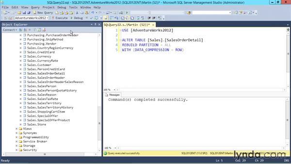 Planning compression: Designing Database Solutions for SQL Server 2012