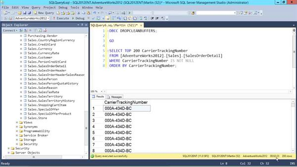 Using indexes: Designing Database Solutions for SQL Server 2012