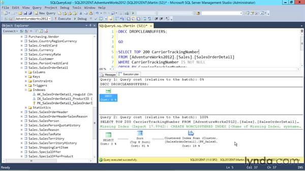 Working with query plans: Designing Database Solutions for SQL Server 2012