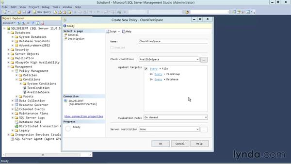 Implementing policy-based management: Designing Database Solutions for SQL Server 2012