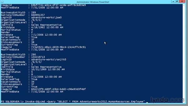 Using Windows PowerShell to run SQL commands: Designing Database Solutions for SQL Server 2012