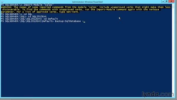 Performing an SQL backup with PowerShell: Designing Database Solutions for SQL Server 2012