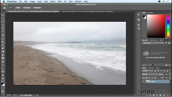 Selecting and compositing the beach: Bert Monroy: Dreamscapes - The Magic Orb