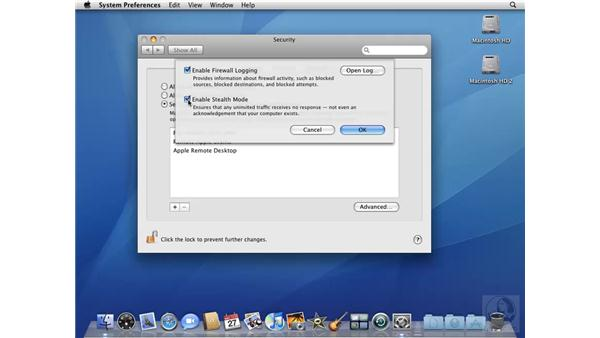 Configuring a firewall with the Security system preference: Mac OS X 10.5 Leopard Beyond the Basics