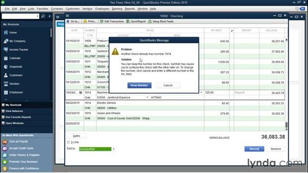 Renumbering checks that are numbered incorrectly: QuickBooks Desktop Tips and Tricks